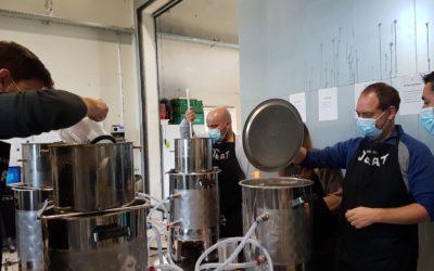 Notre premier atelier brassage !